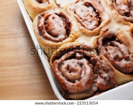 cinnamon roll bread, homemade bakery - stock photo
