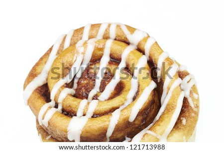 cinnamon roll isolated on white background