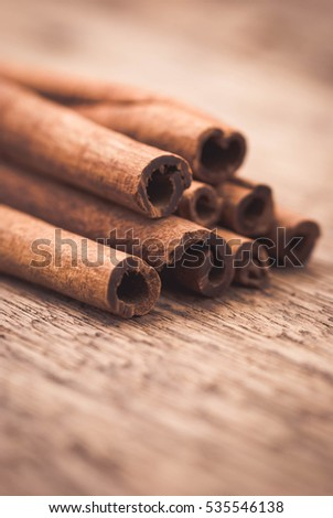 cinnamon stick and star anise spice isolated on white background Macro.