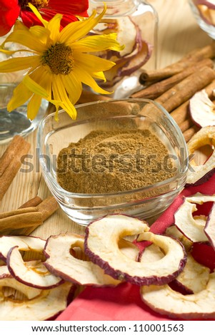 Cinnamon with dried apples