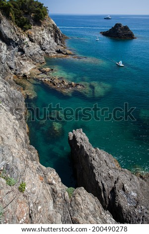 Cinque Terre clifs, Italy  - stock photo