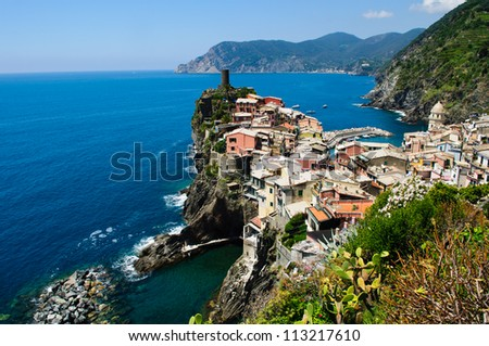 Cinque Terre Italy - stock photo