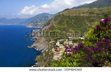 CInque Terre (LIguria,Italy) UNESCO site. - stock photo