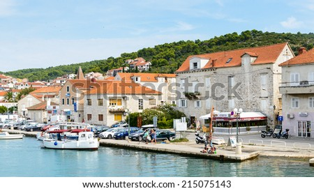 CIOVO, CROATIA - AUG 22, 2014: Coastline of Ciovo, small Croatian Island. Ciovo is an island in the Adriatic Sea with area of 28.8 km2