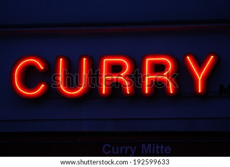 "CIRCA APRIL 2014 - BERLIN: the logo of the brand ""Curry"", Berlin."