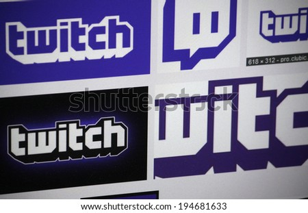 "CIRCA APRIL 2014 - BERLIN: the logo of the brand ""Twitch"", Berlin."