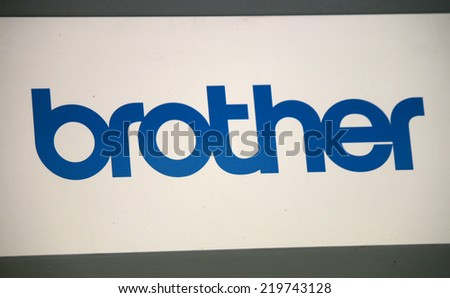 "CIRCA AUGUST 2014 - BERLIN: the logo of the brand ""brother"", Berlin."