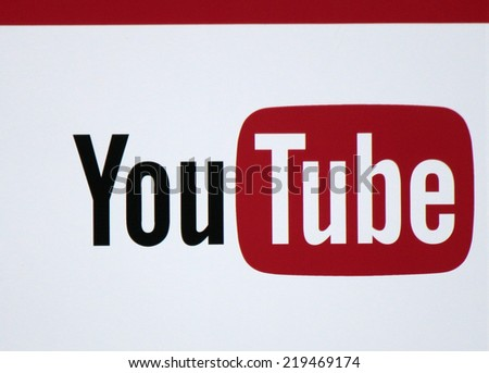 "CIRCA AUGUST 2014 - BERLIN: the logo of the brand ""Youtube"", Berlin. - stock photo"