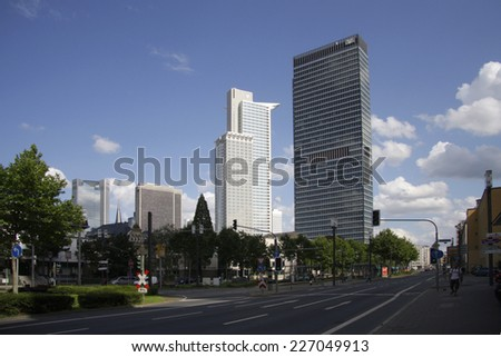 CIRCA AUGUST 2014 - FRANKFURT: the Westend Tower, City Hochhaus, Frankfurt am Main, Germany.