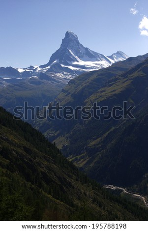 CIRCA AUGUST 2009 - ZERMATT: the Matterhorn mountain, Kanton Wallis, Zermatt, Switzerland.
