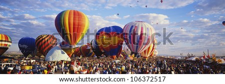 CIRCA 1999 - Balloons being launched