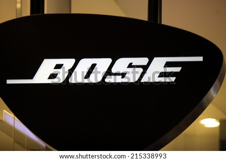 "CIRCA JULY 2014 - FRANKFURT: the logo of the brand ""Bose"", Frankfurt am Main, Germany."