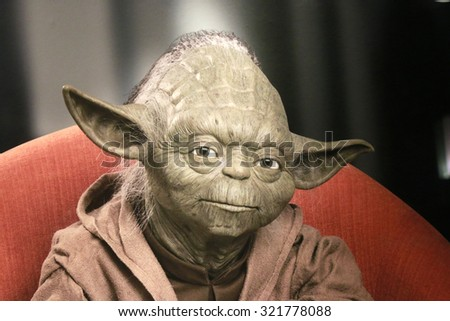 "CIRCA JUNE 2015 - BERLIN: the ""Yoda"" character of the Star Wars-Series, Berlin. - stock photo"