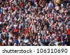 CIRCA 1990 - Large crowd of people USA - stock photo