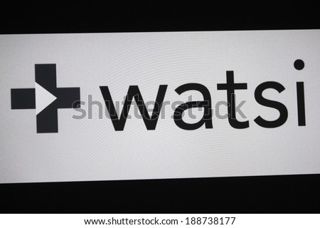 "CIRCA MARCH 2014 - BERLIN: the logo of the brand ""Watsi""."