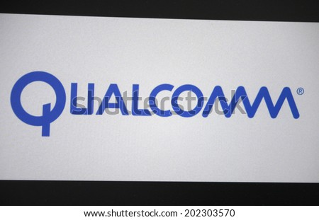 "CIRCA MAY 2014 - BERLIN: the logo of the brand ""Qualcomm""."