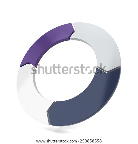 Circle arrow. 3d illustration isolated on white background