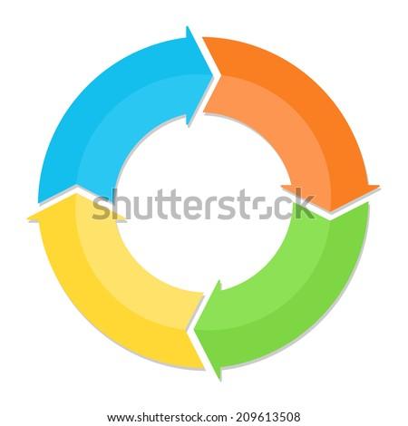 Circle arrows diagram infographic template - stock photo