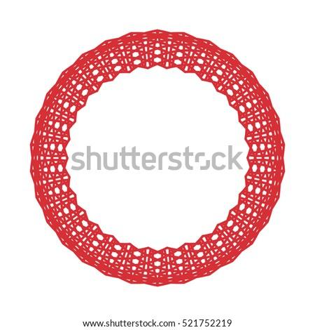 circle background line border frame red stock illustration