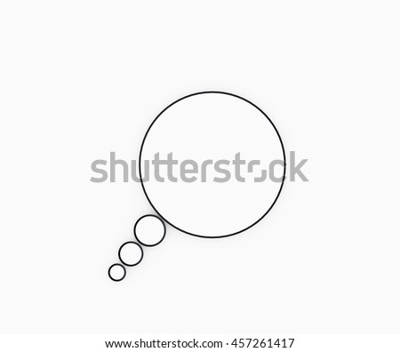 Circle bubble isolated on white background.3D Rendering