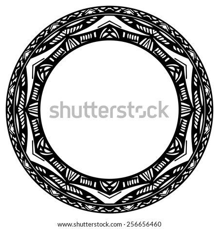 Circle element reminiscent of the Mayan calendar - stock photo