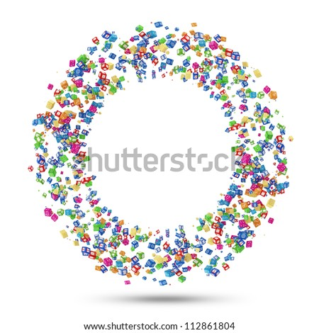 Circle from Application Icons isolated on white background - stock photo