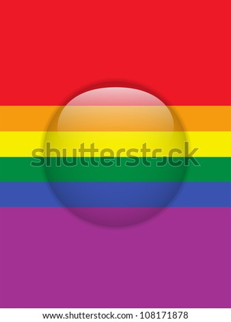 Circle Glass Glossy Button Gay