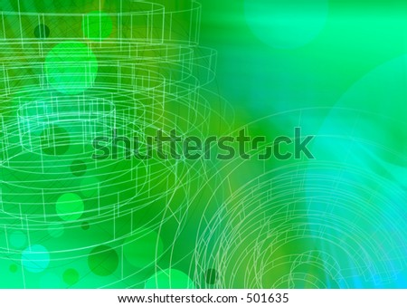 Circle green with wireframe A3. Use as is or overlay with text or other elements. - stock photo