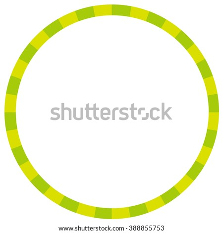 circle of green stripe color