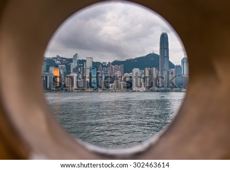 Circle of Hongkong City - stock photo