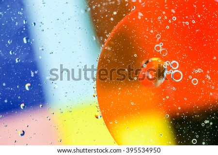 Circle (oil on water surface) abstract colorful background