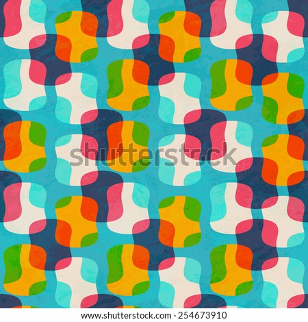 circle seamless pattern (raster version) - stock photo