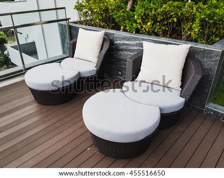 Circle Sofa Chair On Terrace