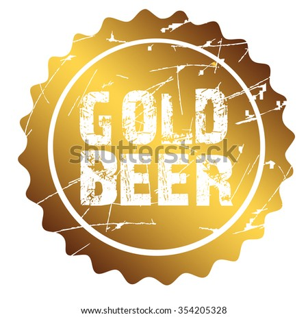 "circle stamp ""Gold Beer"", bitmap"