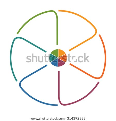 Circle Template Colourful Lines Text Areas Stock Illustration