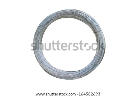 Circle wire isolated on white background