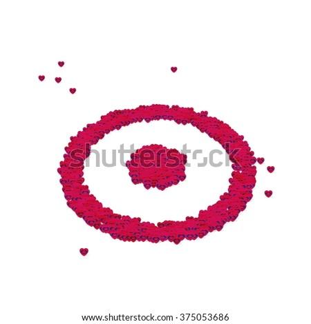 Circle Dot Symbol Glyph Out Tiny Stock Illustration 375053686