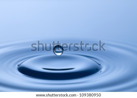Circles on a water surface of the falling drop