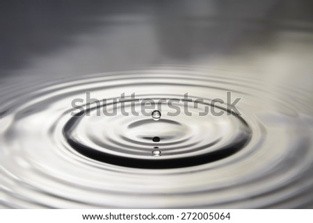 circles on water from the the drop - stock photo