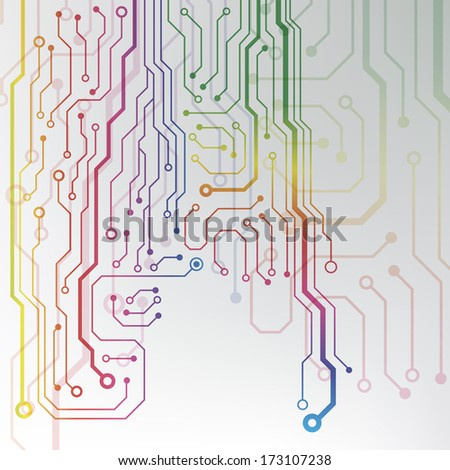 circuit board background. bitmap - stock photo