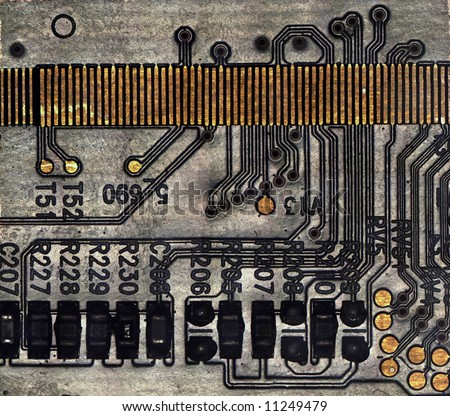 Circuit board background, microscope picture