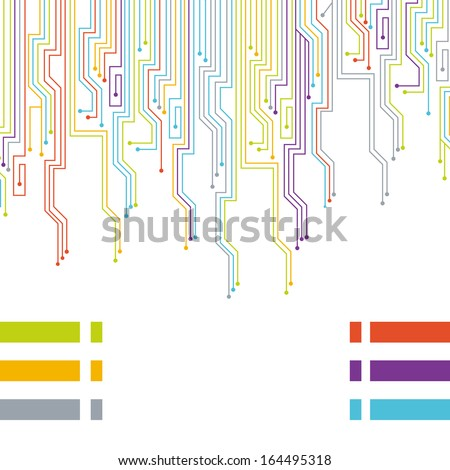 Circuit board design.  illustration. - stock photo