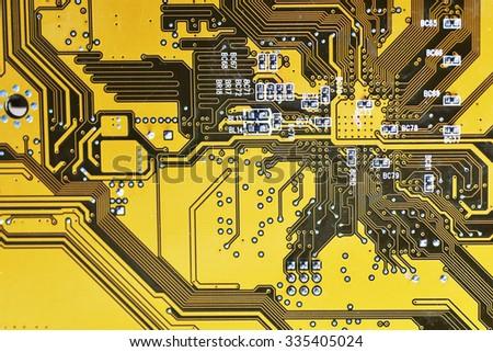 Circuit board digital highways of computer - stock photo