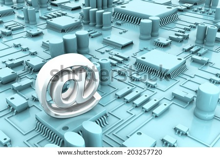 Circuit board, mother board with email symbol