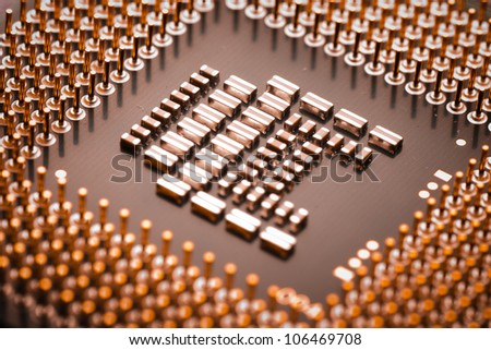 circuit board of laptop CPU