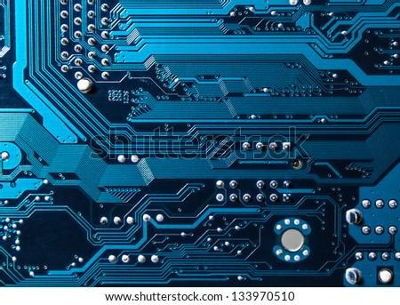 circuit board texture - stock photo