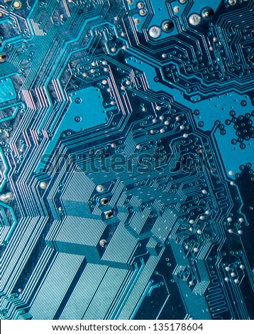 circuit board texture - stock photo
