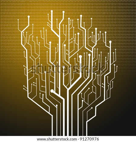 Circuit board tree shape,Technology background