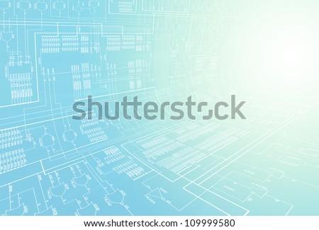 Circuit Diagram - stock photo