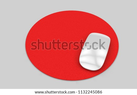 circular blank mouse pad computer mouse stock illustration